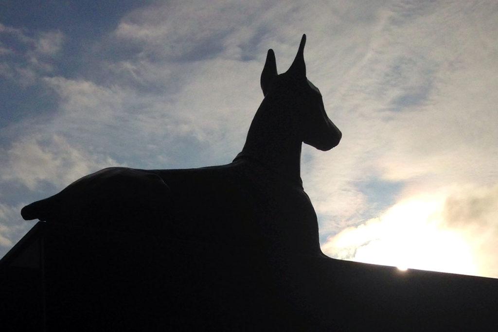 War dog statue