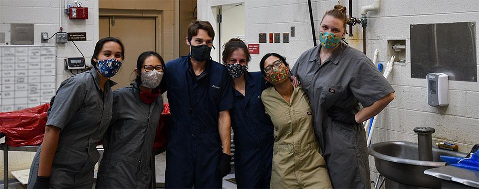 Pathology students