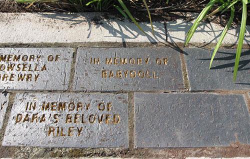 Pet memorials in paver